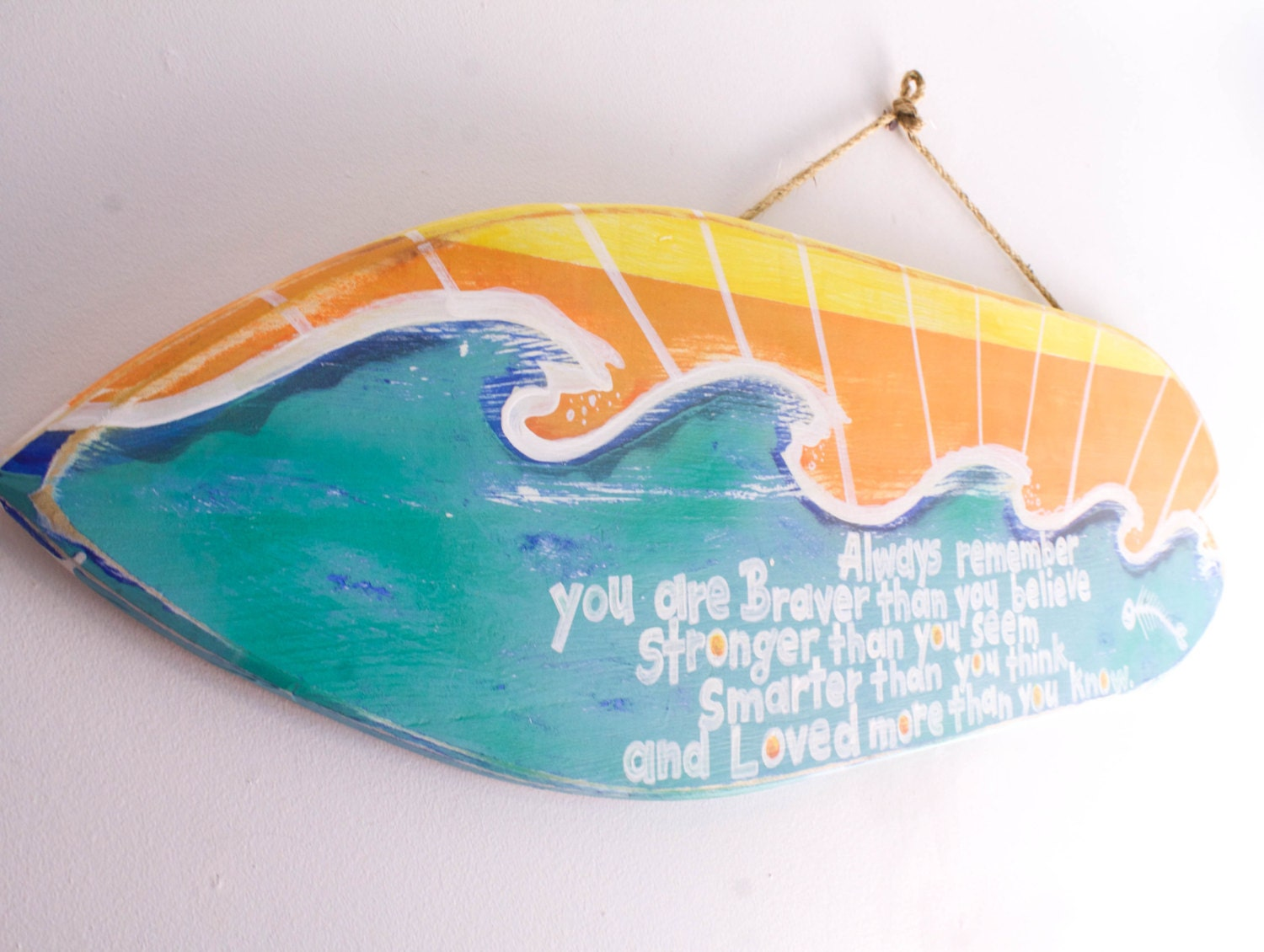 Surfboard beach sign beach decor surf decor beach baby nursery for Surf decoration