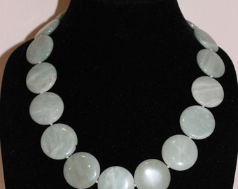 Custom Hand Knotted Jade Disk Necklace