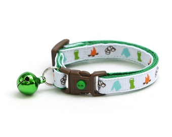 Camping Cat Collar - Scouting Fun - Small Cat / Kitten Size or Large Size