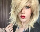 Blonde wig, Blonde Shag Wig | Long Straight Blonde wig, Beachy Blonde wig | Natural Boho wig | Vanilla Sugar