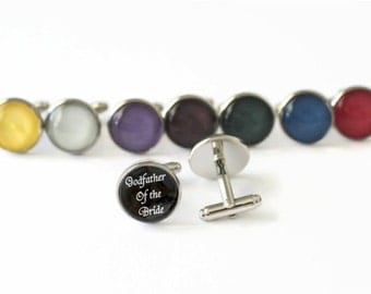 Godfather of the Bride Gift, Godfather Cufflinks, Wedding Gift For Godfather, Godfather Gift from Bride, God Father Gift for God Father