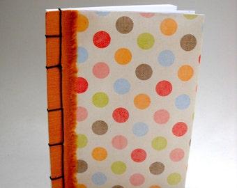 Polka Dot Notebook Japanese Stab Stitch Notebook, Handmade Notebook, Cute Notebook