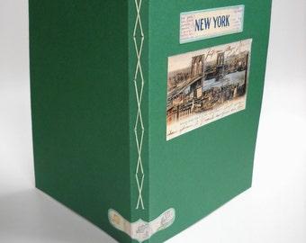 New York, Kiss Stitch Notebook, Softcover New York Notebook, Travel Notebook