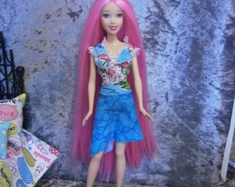 Rerooted rescued fashion  doll