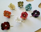 Rainbow Pack, set of 8 hydrangea hair clips