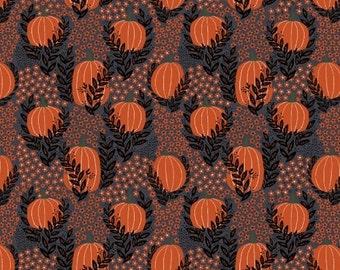 Pumpkin Patch in Twilight (40645-x) - MISCHIEF NIGHT by Dinara Mirtalipova for Windham Fabrics - By the Yard