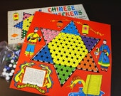 Vintage Chinese Checkers Board Game - 1960s
