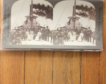 """Antique early 1900's Stereo Card, """"Twentieth Century Series"""" by The Whiting View Company"""