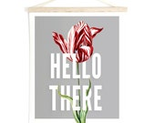 Pull Down Chart Tulip Botanical Canvas Hanging Print Funny Quote Wall Hanging Vintage Botanical Tulip. Inspirational  - TD101CV