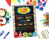 Yo Gabba Gabba Birthday Party Invitation - PRINTABLE DIY invite