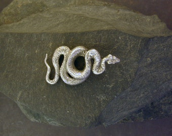 Sterling Silver Snake Sculpture