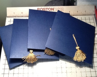 Graduation Cap Invitation or Announcement - Navy, Highschool, College