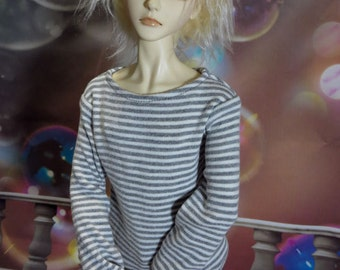 Tan and White Stripe 60cm SD SD13 BJD Long Sleeve Shirt