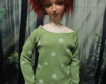 CLEARANCE 70cm  BJD Lime pullover with White Stars