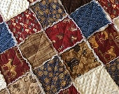 Cowboy Baby Rag Quilt Patchwork Ready to Ship 36X40 Baby, Crib, Toddler Size