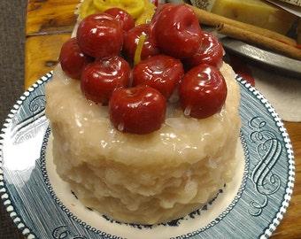 Cherry Vanilla Grunge Cake Beeswax Candle
