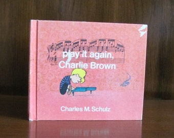 """Vintage 70's """"Play it Again, Charlie Brown"""" - 1971 - Children's Picture Book - Charles M. Schulz - Schroeder, Lucy - Peanuts"""