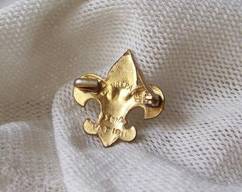 Vintage Boy Scout Pin 1911 Be Prepared Boy Scouts of America Fleur De Lis Scouting Memorabilia
