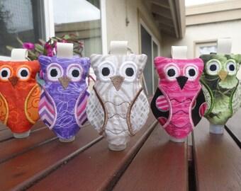 Owl Hand Sanitizer holder, hand bacterial holder