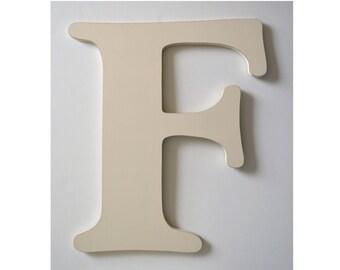 Letter F, 24 Inch Letter,  Large Wooden Letter