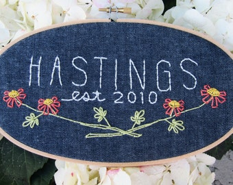 Your Family Name Embroidery