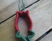 Summer Tulip Ornament Red and Green Twine Flower Ornament TOSCOFG SnowNoseCrafts