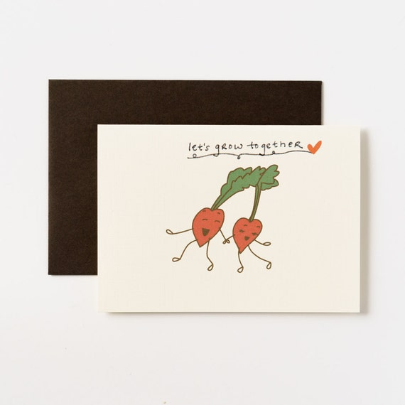 Let's Grow Together Beets Love Greeting Cards