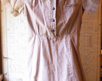 Vintage Brownie Girl Scout Uniform - Girl's Brown Dress