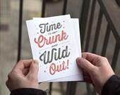 Get Crunk Shot Glass Card