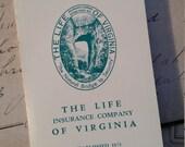 Vintage Set Sewing Needle Books Set of Four Life Insurance Company of Virginia