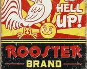 Rooster Brand Coffee - Cross stitch pattern pdf format