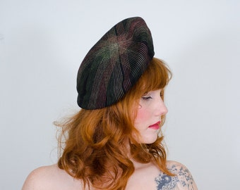 1940s vintage hat / beret / Full Spectrum
