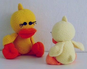 Amigurumi Crochet Pattern Duck PDF - Duck and Ducky amigurumi Toy crochet pattern - Instant DOWNLOAD