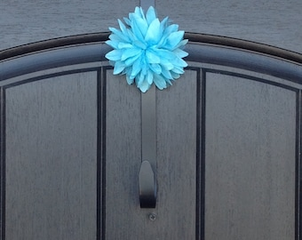 Wreath Door Hanger Clip Accessory - Removable - Ornament - Teal Accent