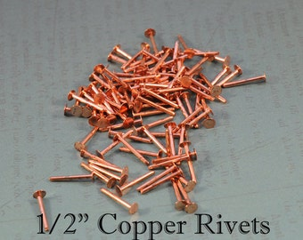 "100 1/2"" 1.3mm Copper Rivets"