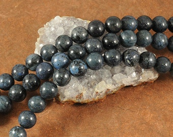 Dumortierite Beads -  10mm Round - 8 inch strand of 20 beads