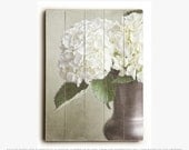 Wood Sign: Hydrangea Wall Art, Ready to Hang Wall Art, Cottage Chic Decor, Wood Wall Art, Floral Decor, Hydrangea Photography.