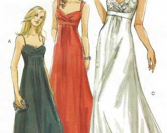 Womens Evening Gown Prom Dress Bridesmaid Dress OOP Vogue Sewing Pattern V8360 Size 18 20 22 Bust 40 42 44 UnCut