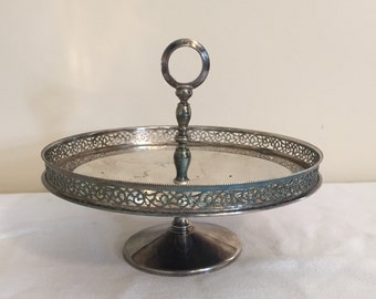 Silver Plate Dish Candy Dish Serving Dish Made In Italy