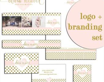 Photography Logo photography Logo Designs Heart Logo Blog Logo Branding Kit Marketing Set Photographer Logo Complete Branding package