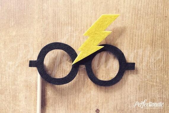 Felt Harry Potter Glasses   Harry Potter Bolt Glasses   Felt Photo-Booth Prop   Harry Potter Photo-Booth Props