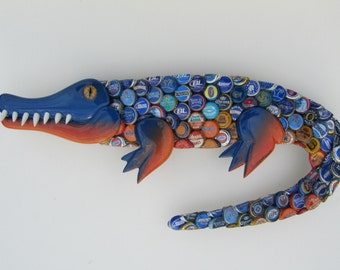 Florida Gator Wall Art alligator bottle cap metal wall art gator