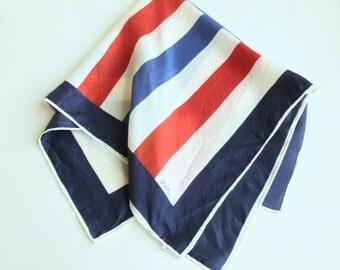 Vera Neuman Scarf Red, White and Blue Stripes Patriotic Nautical Women's Designer Accessory