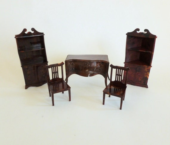 Renwal dining room plastic dollhouse by bornatthewrongtime on etsy - Dollhouse dining room furniture ...