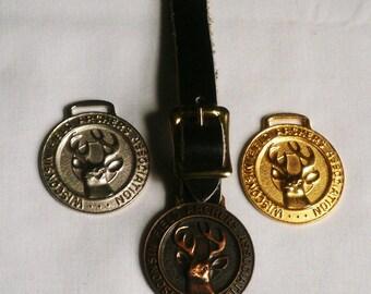 Three Wisconsin Archers Association Pocket Watch Fobs