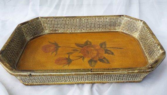 Decorative wooden serving vanity tray by tymelesstrinkets for Decorative bathroom tray