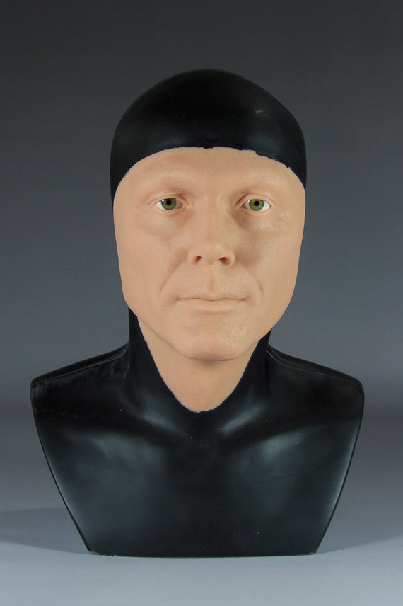Adam West Display Head in Translucent Resin with Eyes