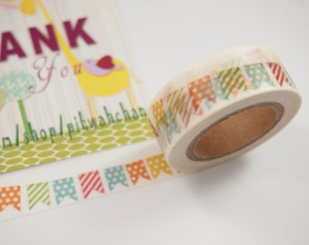 Colorful Bunting Flag Washi Tape (10M)