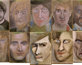 OOAK Doctor Who oil portraits