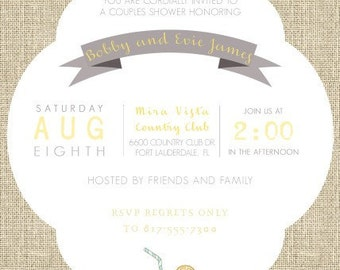 Burlap Lemonade Invitations